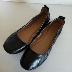 NWOT Black Womens Round Toe Ballet Flats Size 11